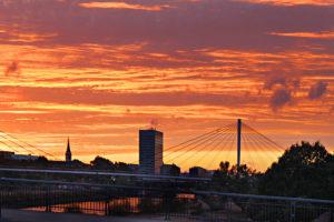 Friedrichsfeld-Mannheim-Stadtbezirk-Sonnenuntergang