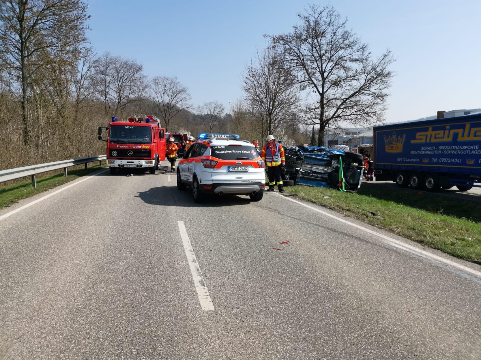 Eschelbronn: L549 nach schwerem Unfall gesperrt (mit Fotostrecke)