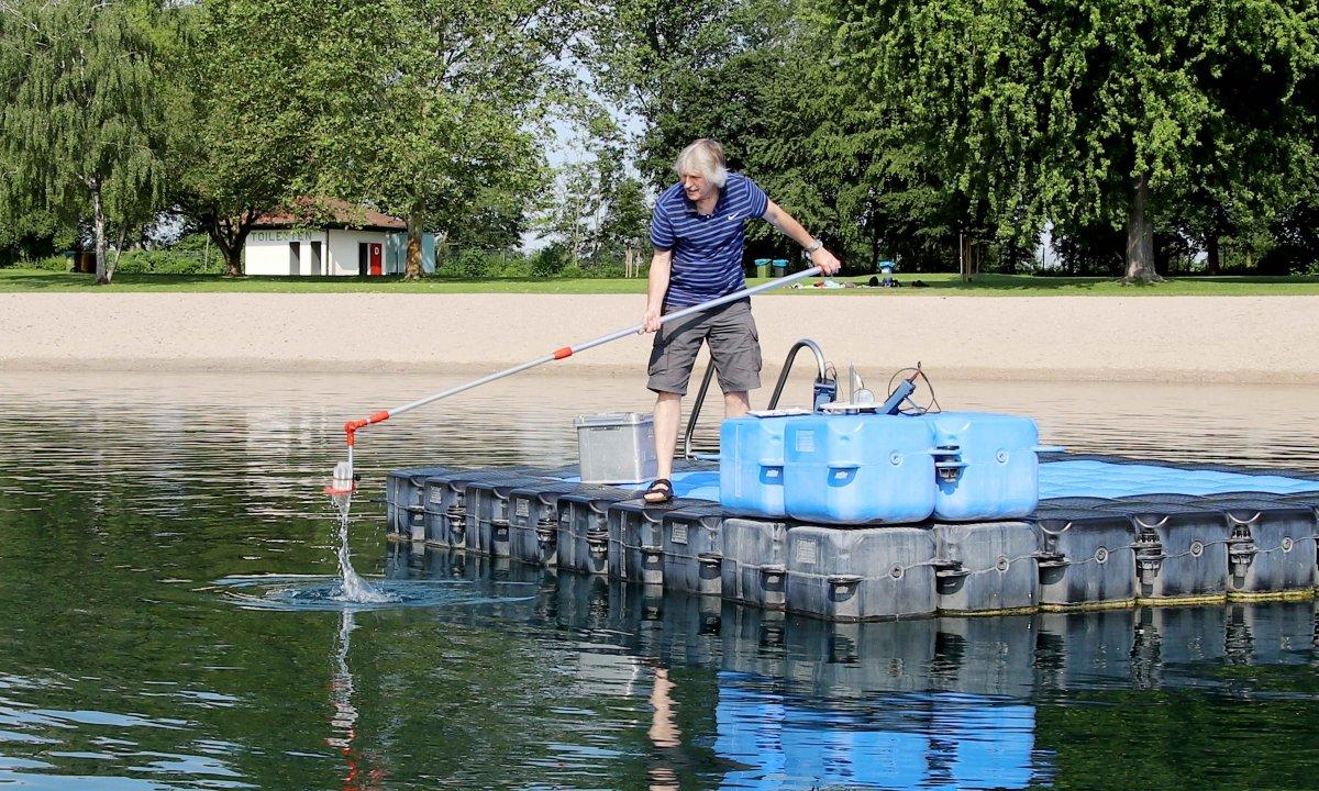 Gesundheitsamt: Die aktuell gemessenen Wasserwerte und Probenahmen zeigen eine hygienisch einwandfreie Wasserqualität aller neun Badeseen im Rhein-Neckar-Kreis