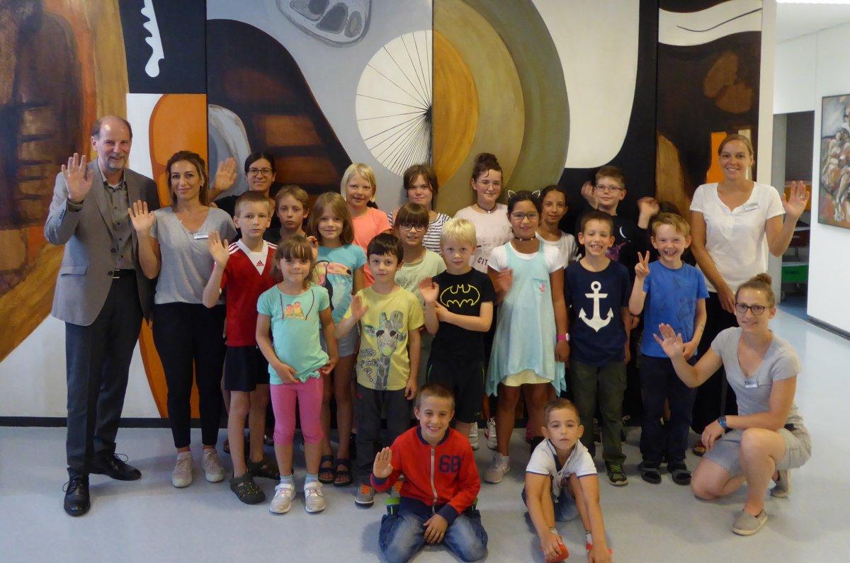 Im Landratsamt startete wieder das Ferienprogramm für Kinder von Mitarbeitenden