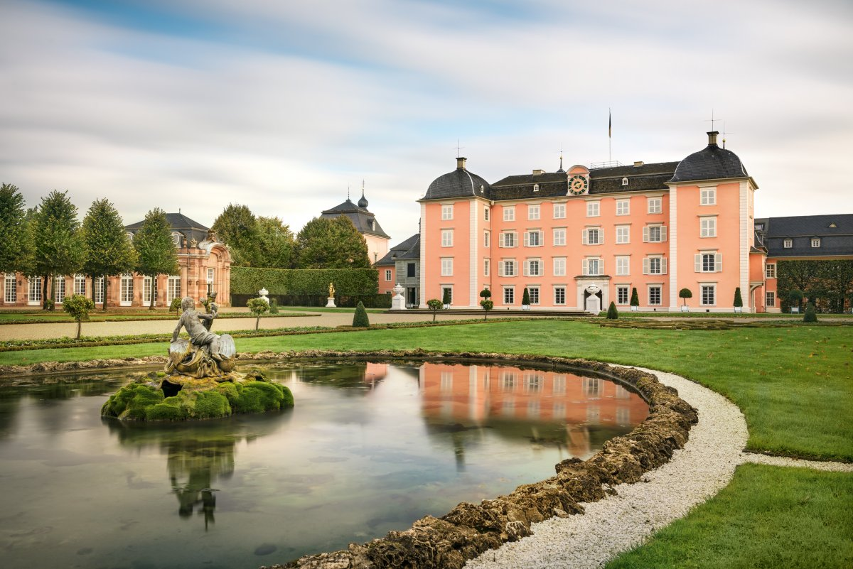 Schloss und Schlossgarten Schwetzingen im November 2019