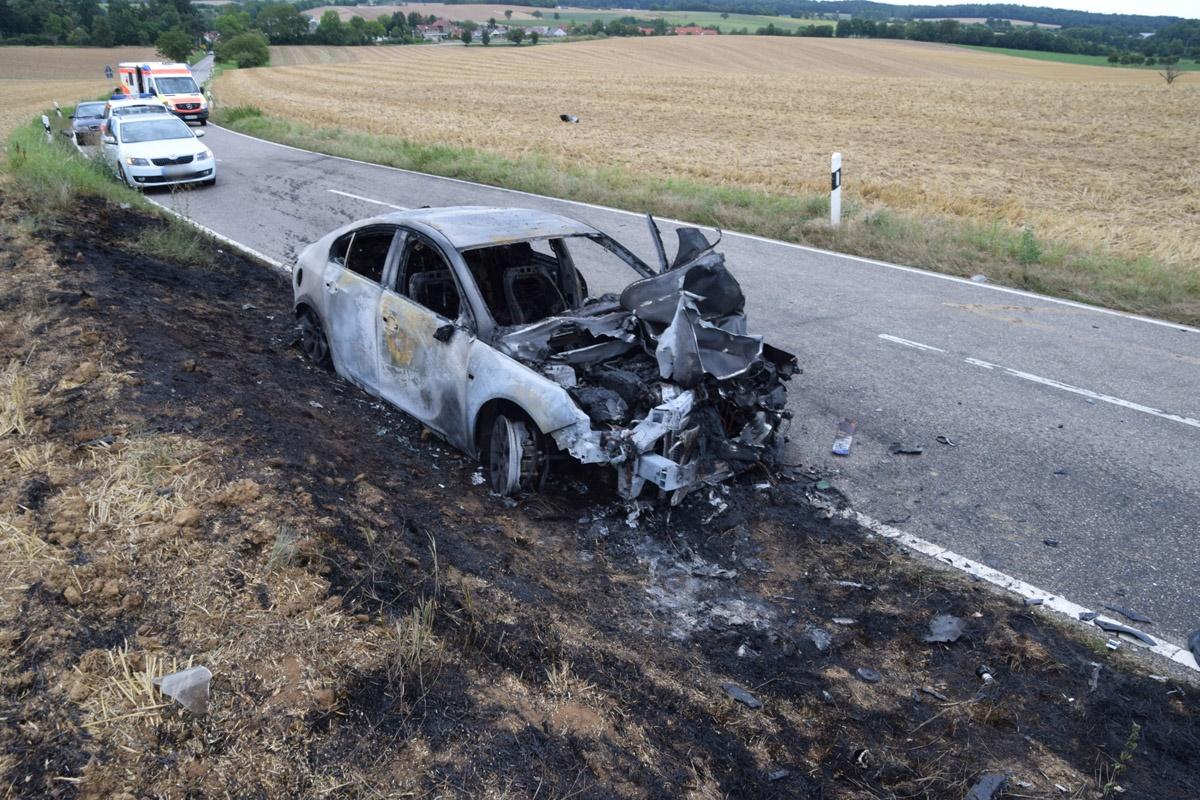Tödlicher Motorradunfall bei Heilbronn - 24-jähriger Biker stirbt nach Zusammenstoß mit Auto