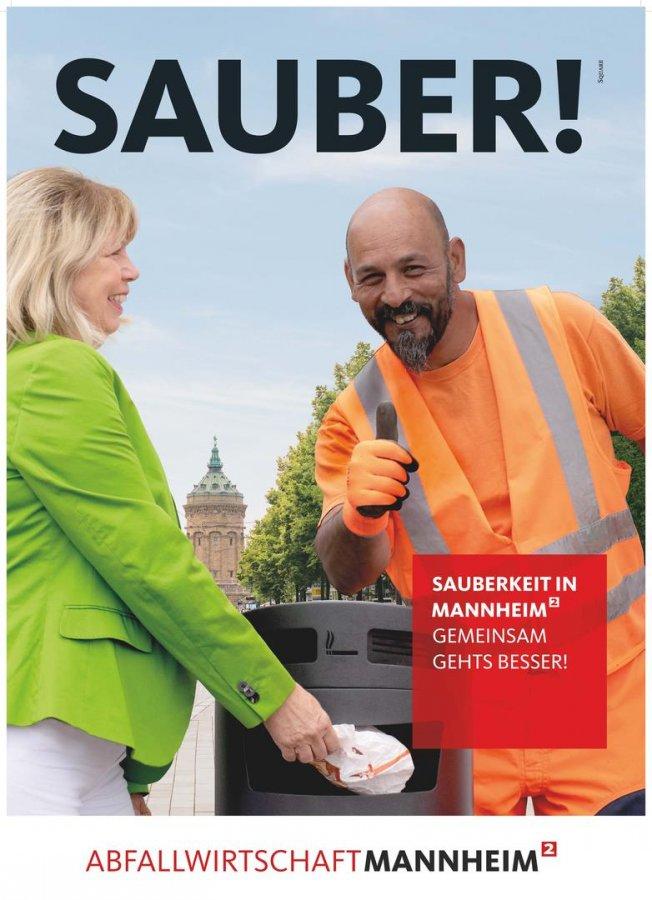 Mannheim: Plakatkampagne für mehr Sauberkeit im öffentlichen Raum