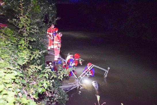 Neckargemünd: Sportboot sank in der Elsenz