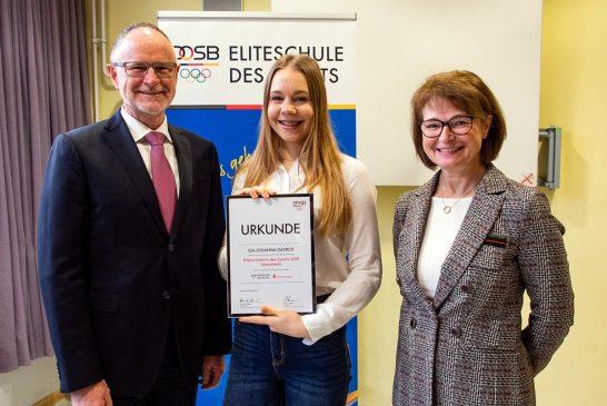Sparkasse ehrt Sportlerin für herausragende Leistungen – Schulen mit 7 000 Euro gefördert