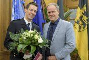Heidelberg: Oberbürgermeister Prof. Würzner begrüßte den neuen Feuerwehrleiter Heiko Holler