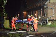 Wiesenbach: Brand beim Hofgut Langenzell - Feuerwehr im Einsatz