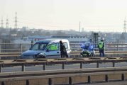 Mannheim-Mallau/ B36: Unfall mit mehreren beteiligten Fahrzeugen, Verkehrsbehinderungen, Unfallaufnahme im vollen Gang