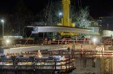 Heidelberg: Stahlträger für die neue Hebelstraßenbrücke eingehoben