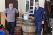 Schwetzingen in der Corona-Krise: Firma Futterer spendet Desinfektionsmittel