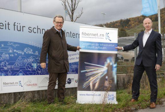 Schriesheimer Gewerbegebiet östlich der B 3 wird an das gigabitfähige Glasfasernetz angeschlossen