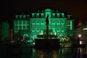 Fünf Jahre Weltklimagipfel Paris: Heidelberger Rathaus leuchtete grün