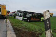 Neckarsulm: Linienbus kam von der Fahrbahn ab