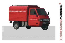 Mannheim: Bibliotheksfahrzeuge sind die Motive der neuen Bibliotheksausweise
