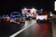 A6 bei Sinsheim: Unfall auf nasser Fahrbahn sorgt für Vollsperrung – Polizei und Feuerwehr im Einsatz! (Update)