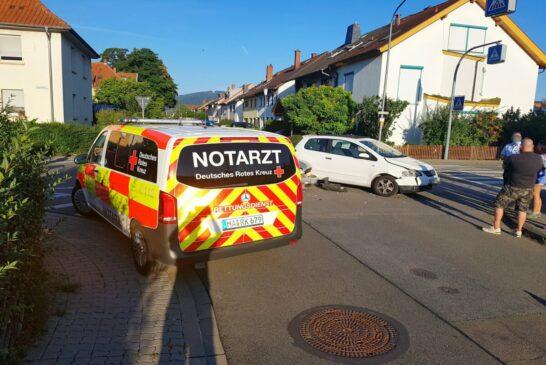 Heidelberg-Pfaffengrund: Kreuzungsunfall sorgt für Behinderungen - keine Verletzen!