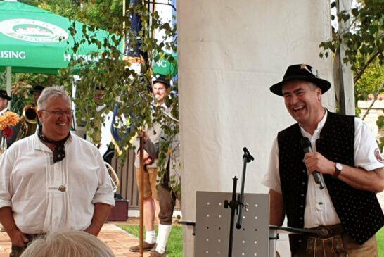 Lothar Schmeißer links und Robert Heinrich rechts