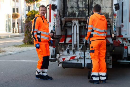 Heidelberg: Klimabürgermeister Raoul Schmidt-Lamontain mit der Müllabfuhr und der Stadtreinigung auf Tour